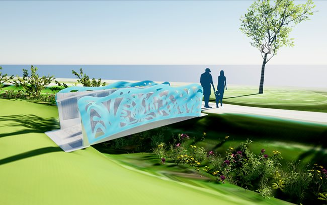"Public Art Award, Gentilly Resilience District, ""Footbridge Over the Bioswale"""
